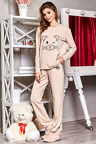 Женский трикотажный костюм-пижама с принтом (1662.4463-4447-4458 svt)