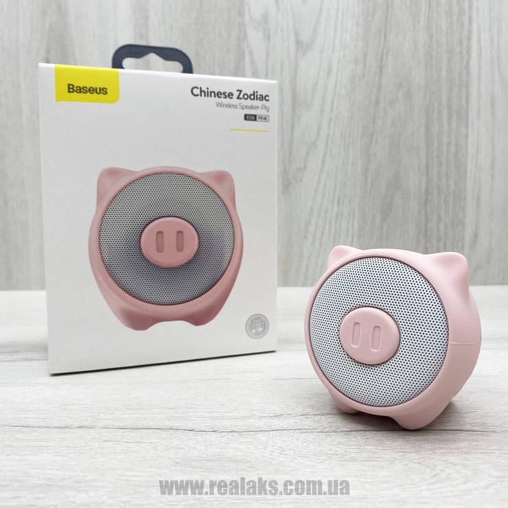 Портативная колонка Baseus Q Chinese Zodiac Wireless speaker - Pig E06 (Pink), фото 2