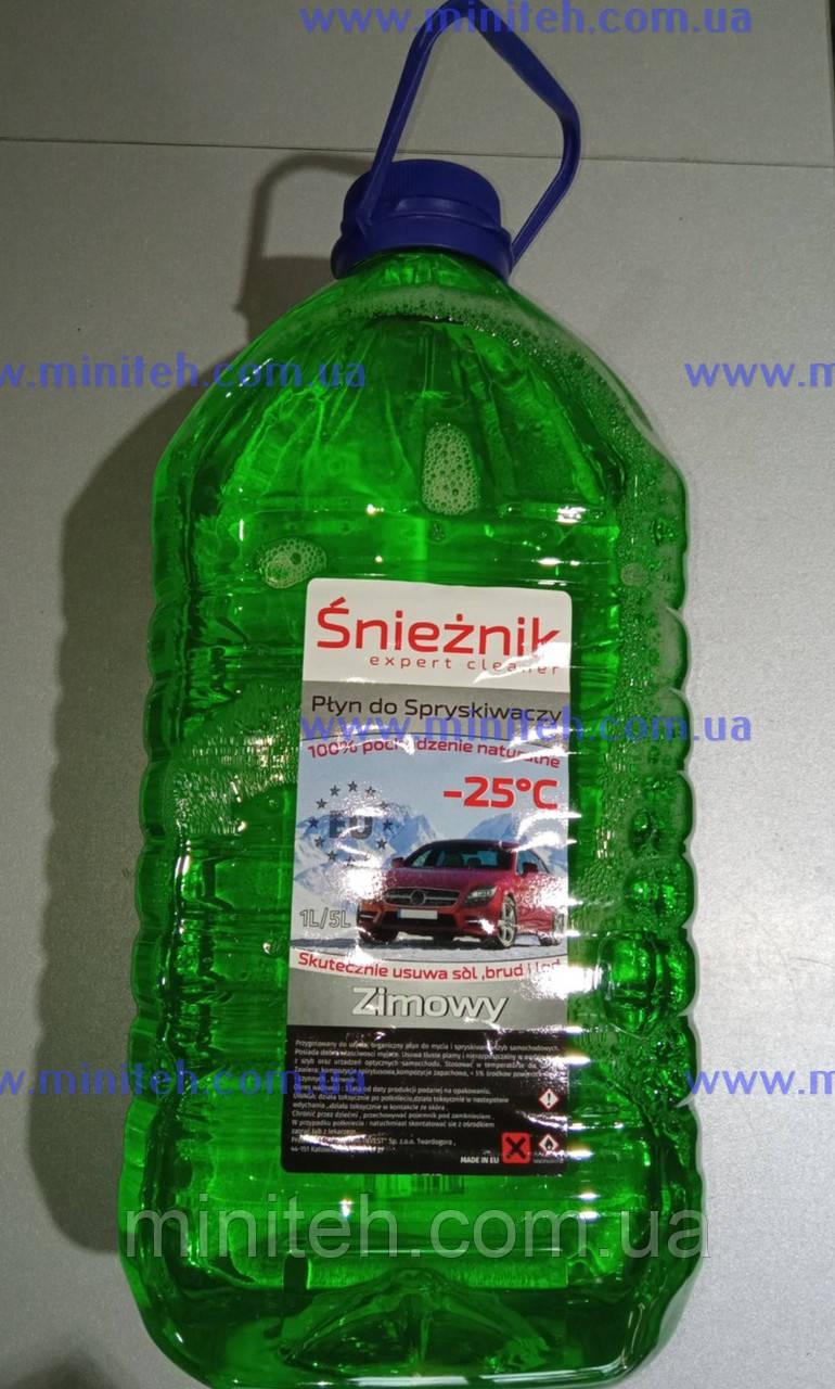 """Омивач скла """"Snieznik green"""" (-25) (яблуко) 5 л"""