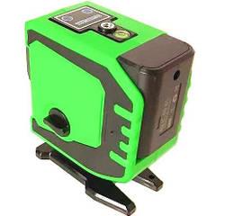 Строительный лазерный уровень, нивелир UKC 5178 3D 12 линий со штативом, зеленый с черным