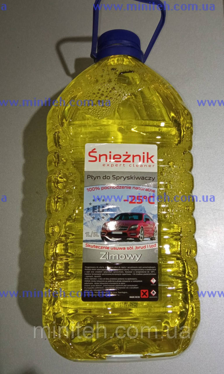 """Омивач скла """"Snieznik yellow"""" (-25) (фруктовий) 5 л"""