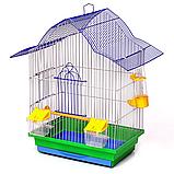 Клітка Мальва 330х230х450 мм (фарба) для птахів, Лорі До 049, фото 2