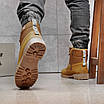 Зимние мужские высокие ботинки на меху из нубука на шнуровке песочного цвета, фото 7