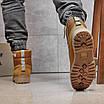 Зимние мужские высокие ботинки на меху из нубука на шнуровке песочного цвета, фото 8
