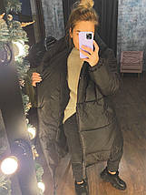 Черная зимняя куртка женская, фото 3