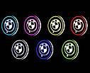 Подсветка подстаканника в авто RGB с логотипом автомобиля BMW комплект 2 штуки, фото 2