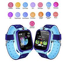 Смарт часы детские с GPS + камера TD07S, Blue