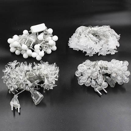 Xmas гирлянда LED 40P WW-7 МИКС Теплый белый (Продается только ящиком!!!), фото 2