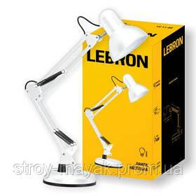 Лампа настольная телескопическая LEBRON L-TL-TEL E27 40W белая