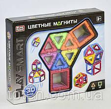 Конструктор магнитный 2427 Цветные магниты  30 деталей, 9 моделей