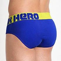 Чоловічі бріфи синього кольору Pink Hero, фото 2
