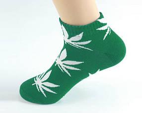 Короткие носки HUF зеленого цвета в белый лист
