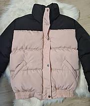 Стильна світловідбиваюча зимова куртка з блискучими сніжинками 42-44 р, фото 3