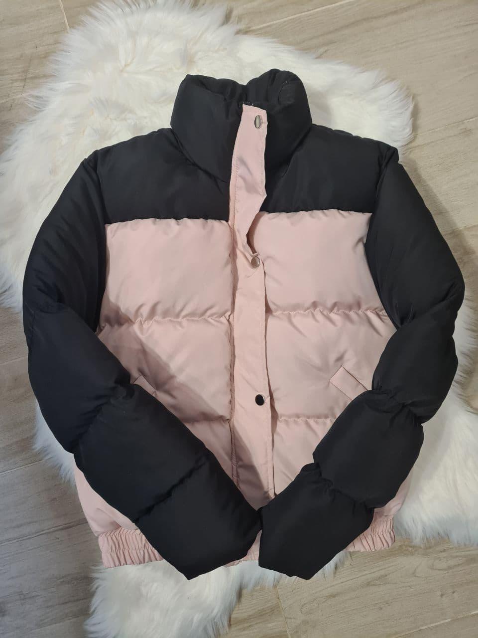 Стильна світловідбиваюча зимова куртка з блискучими сніжинками 42-44 р