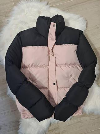Стильна світловідбиваюча зимова куртка з блискучими сніжинками 42-44 р, фото 2