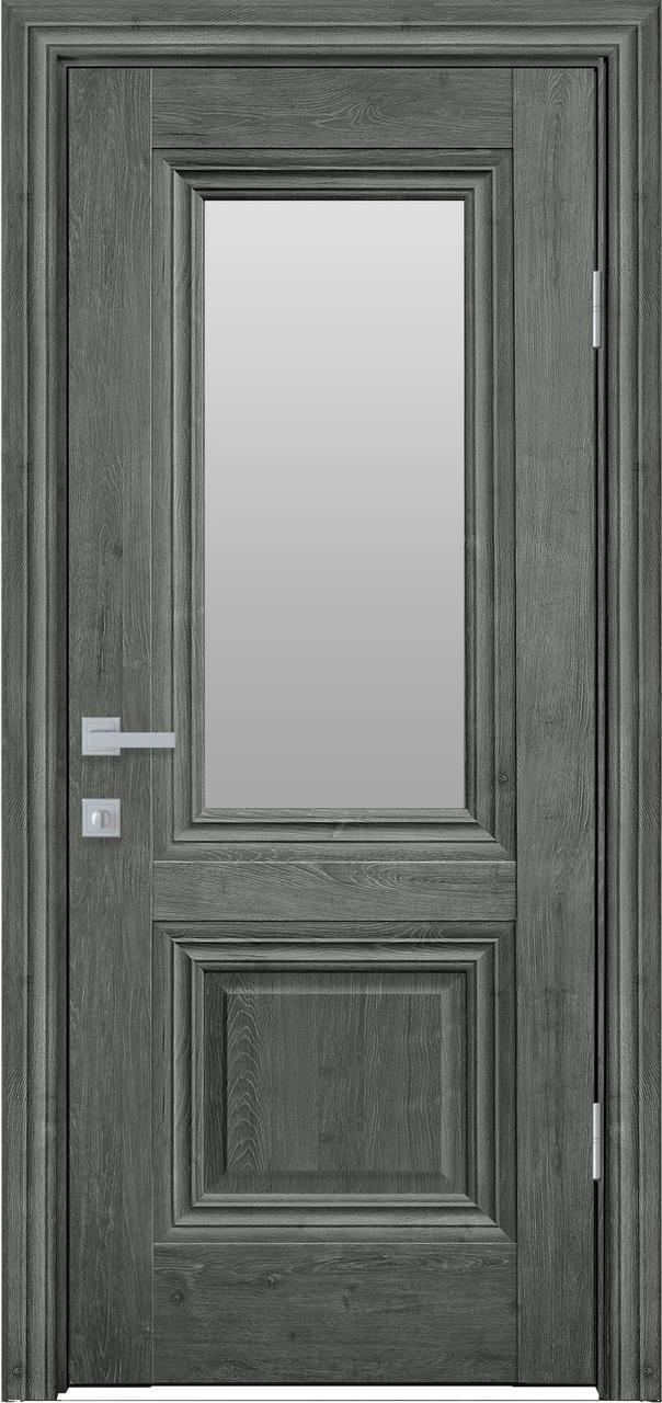 """Дверь межкомнатная """"Новый Стиль"""" модель Канна, орех сибирский (со стеклом)"""