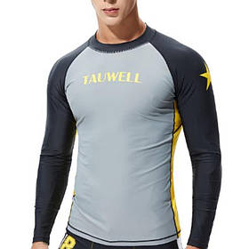 Рашгард Tauwell с длинным рукавом. Цвет: серый