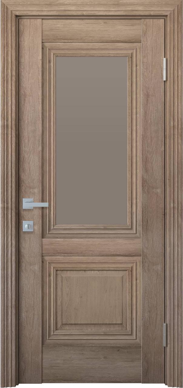"""Дверь межкомнатная """"Новый Стиль"""" модель Канна, орех европейский (со стеклом)"""