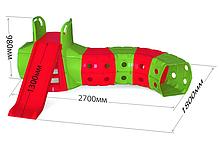 """DOLONI-TOYS """"Гірка з Тунелем"""" 01470/ ( Червоно-зелена 01470/3)"""