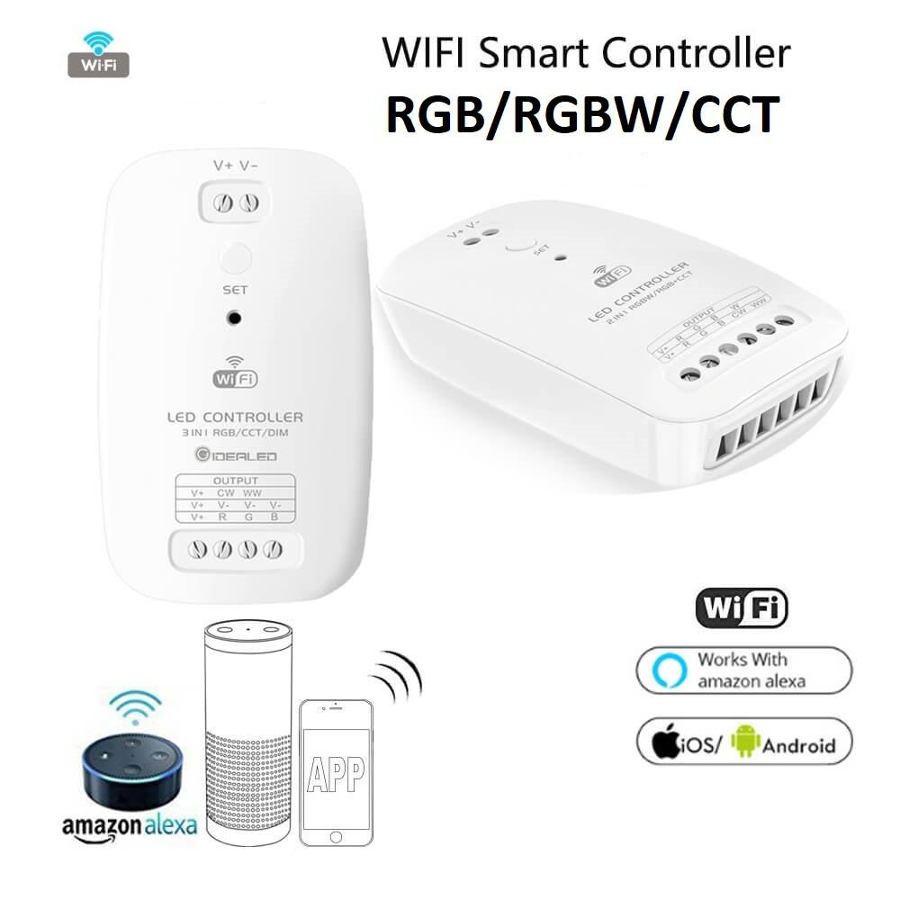 WI-Fi контроллер WF-A2 RGB/RGBW+CCT 2 IN 1 Smart контроллер для светодиодной ленты