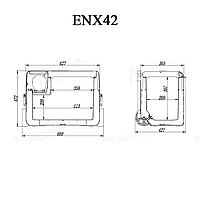 Компресорний автохолодильник Alpicool ENX42 (42 літри). Режим роботи +20℃ до -20℃ 12/24/220V, фото 10