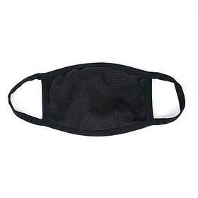 Захисна маска унісекс однотонна чорного кольору