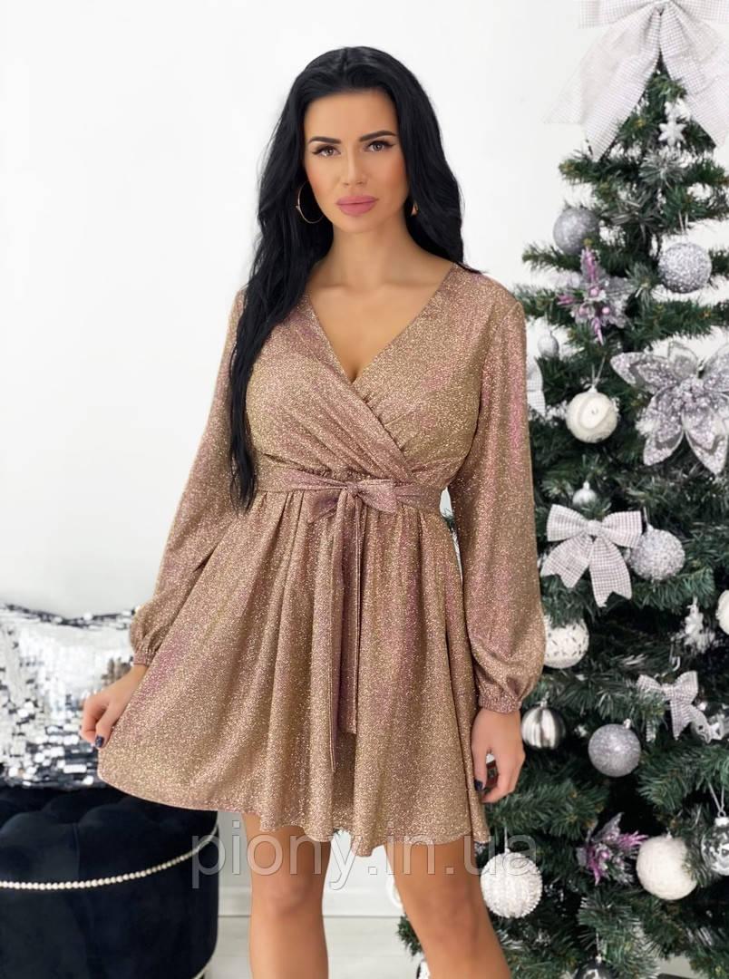 Женское Нарядное Платье из люрекса
