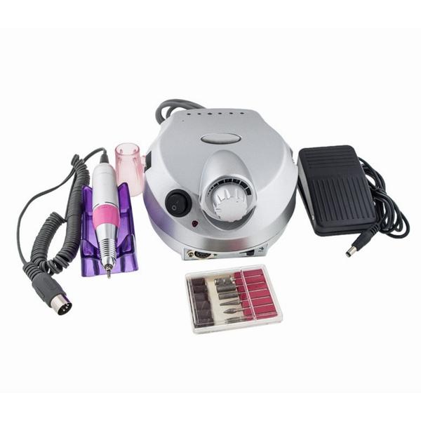 Фрезер Nail Master ZS-601 для манікюру і педикюру 35 Вт 35000 об/хв Срібло