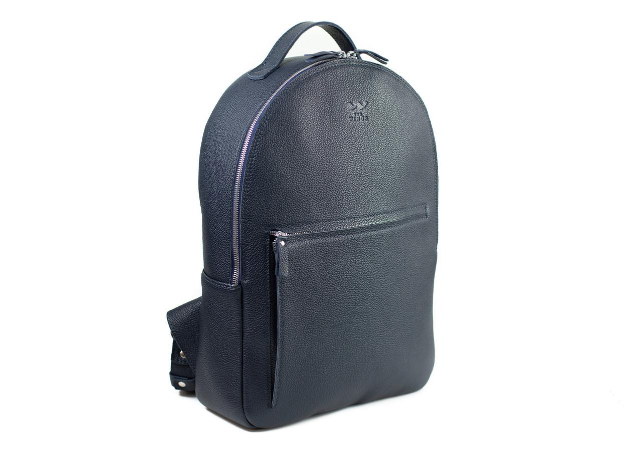 Шкіряний рюкзак Groove L темно-синій флотар