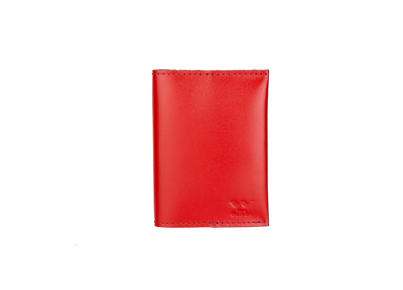 Паспортная обложка красная