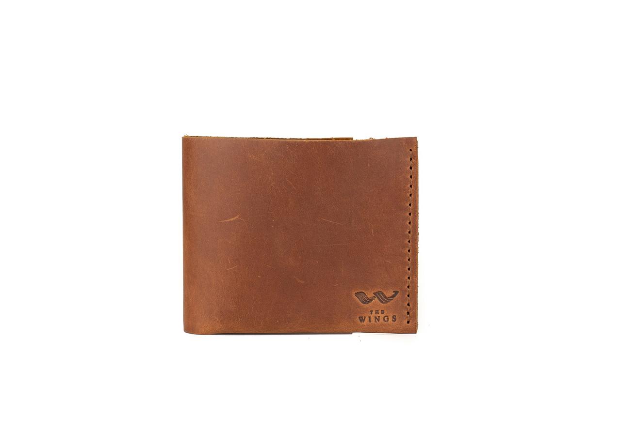 Шкіряний гаманець Mini з монетницею світло-коричневий вінтаж
