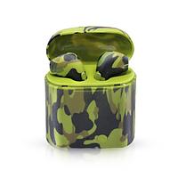 Беспроводные наушники HBQ i7S TWS Bluetooth Stereo Хаки Камуфляж