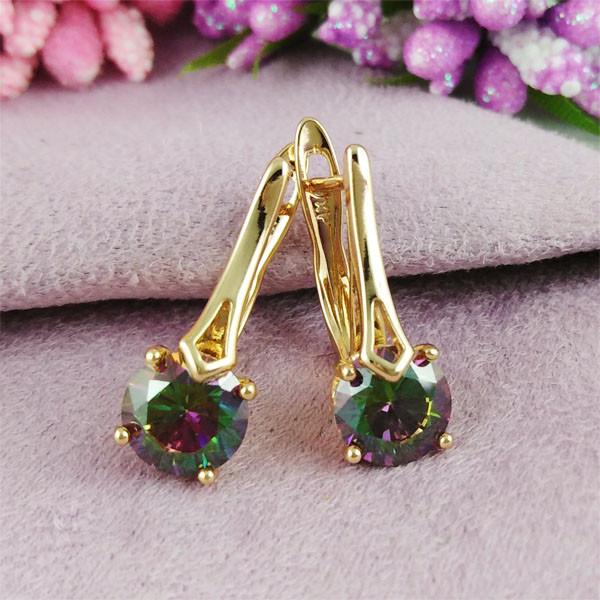 Серьги Xuping Jewelry Эстелла мистик медицинское золото позолота 18К английский замок А/В 1-0332
