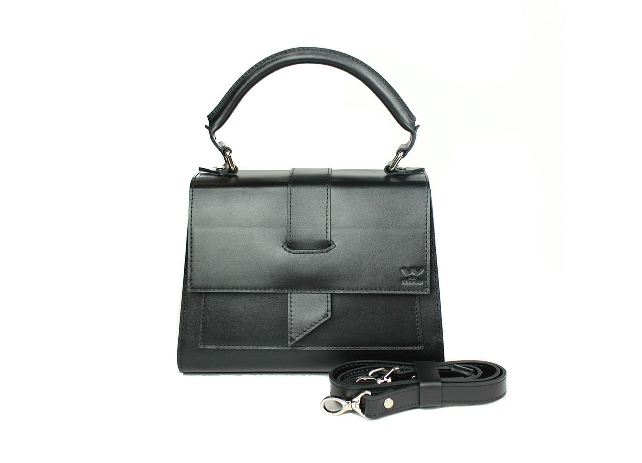 Жіноча шкіряна сумка Ester чорна