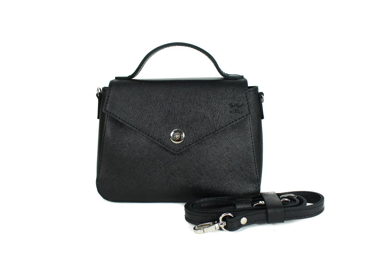 Женская кожаная сумочка Lili чорная сафьян