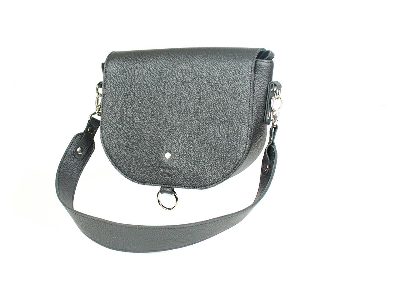 Жіноча шкіряна сумка Ruby L чорна флотар