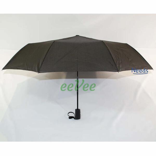 Мужской зонт полуавтомат складной Flagman 708 Черный спицы антиветер