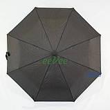 Мужской зонт полуавтомат складной Flagman 708 Черный спицы антиветер, фото 2