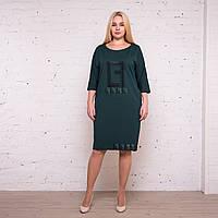 Женское зеленое платье карандаш до колена от производителя. Размеры: 52, 54, 56, 58. Замеры в описании., фото 1