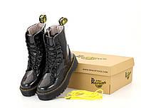 """Ботинки женские зимние лаковая кожа с мехом Dr. Martens JADON Galaxy """"Черные"""" размер 36-41, фото 1"""