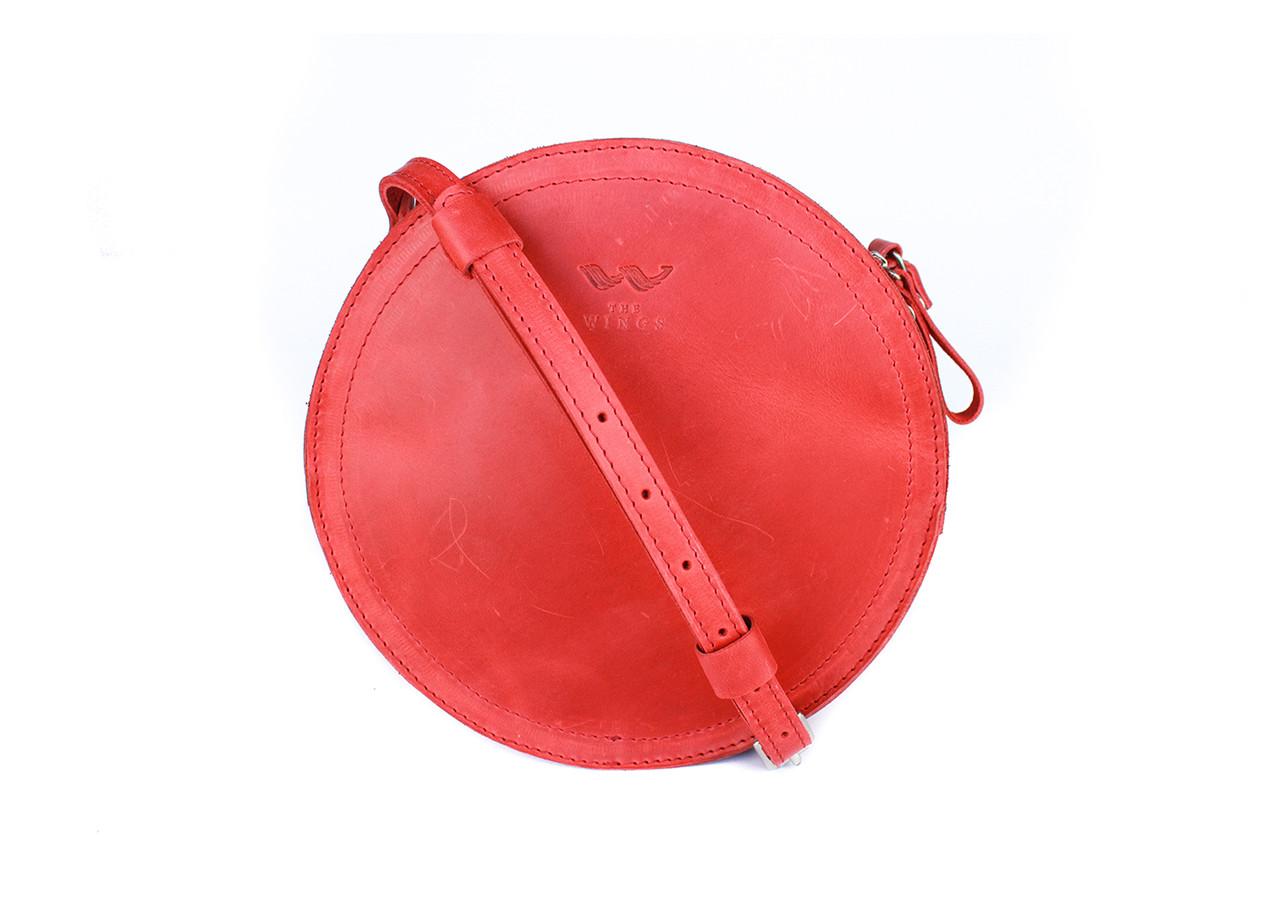 Жіноча шкіряна сумка Amy S червона вінтажна