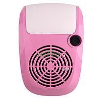Вытяжка маникюрная Simei 858-9 40 Вт Розовая. Пылесос вентилятор для маникюра настольный для ногтей