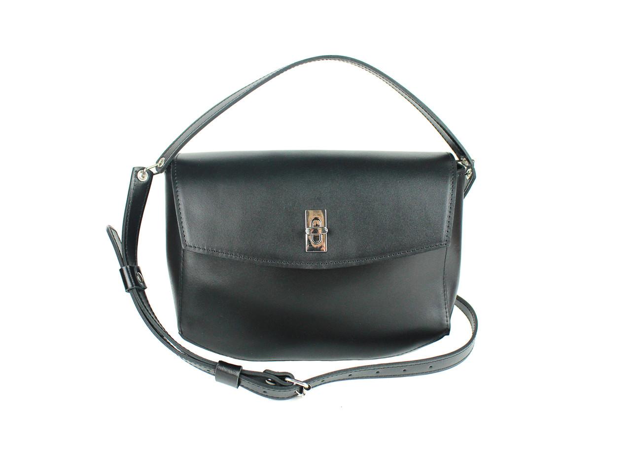 Женская кожаная мини-сумка Eve черная