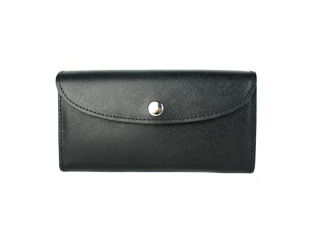 Шкіряний гаманець Smart Wallet чорний сап'ян