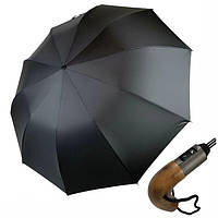 Зонт президентский мужской автомат Silver Rain c большим куполом 126 см семейный складной Черный N200