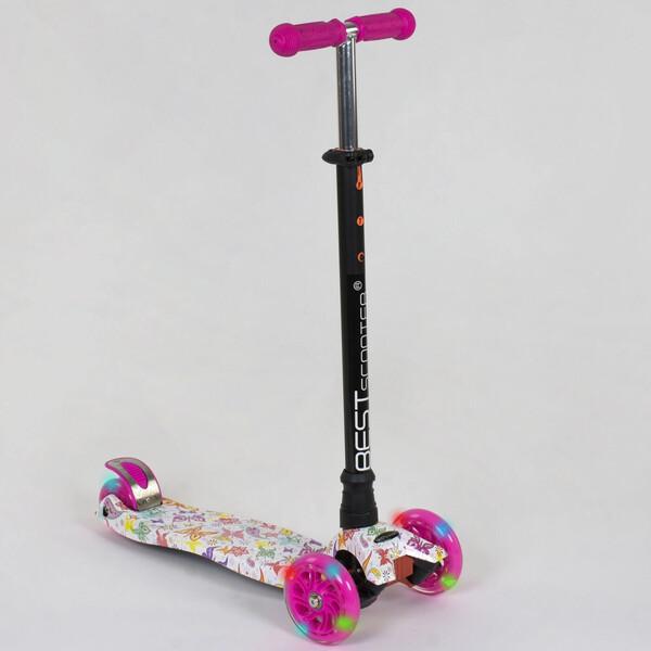 Самокат триколісний Best Scooter 5593 дитячий з підсвічуванням