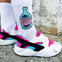 """Разнопарные білі шкарпетки """"Ракушка-пляшка"""" від SOX, фото 2"""