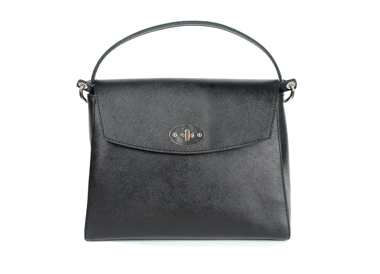 Жіноча шкіряна сумка Iris чорна сап'ян