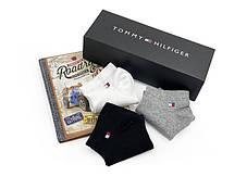 Комплект коротких носков в коробке (9 пар: белые + серые + черные), фото 3