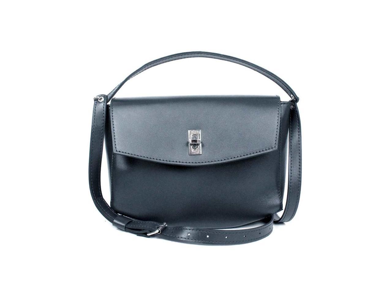 Жіноча шкіряна міні-сумка Eve синя